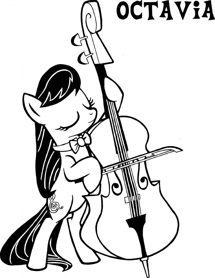 Coloring book My Little Pony: Octavia Coloring Page
