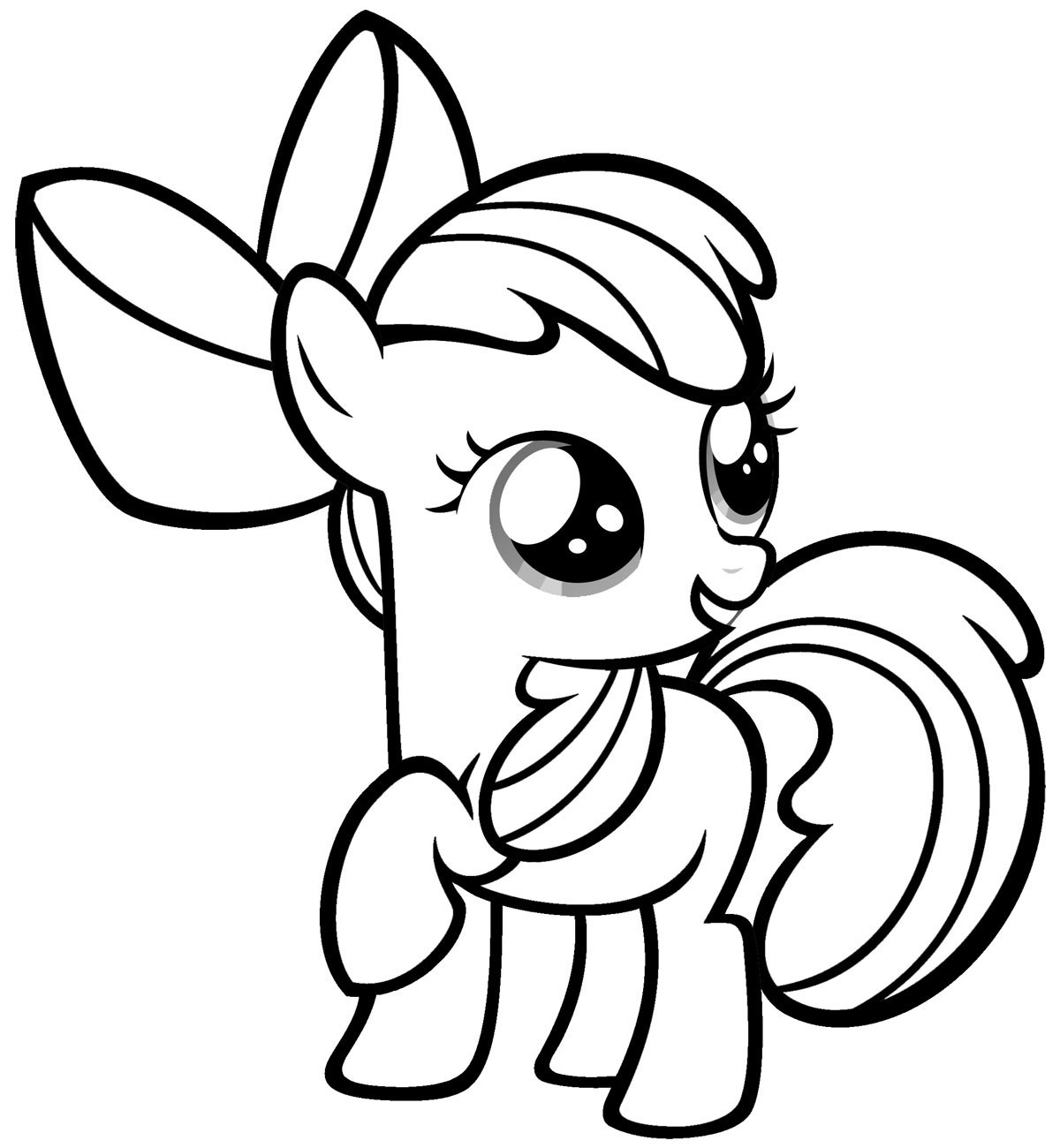 My Little Pony Baby Coloring Page