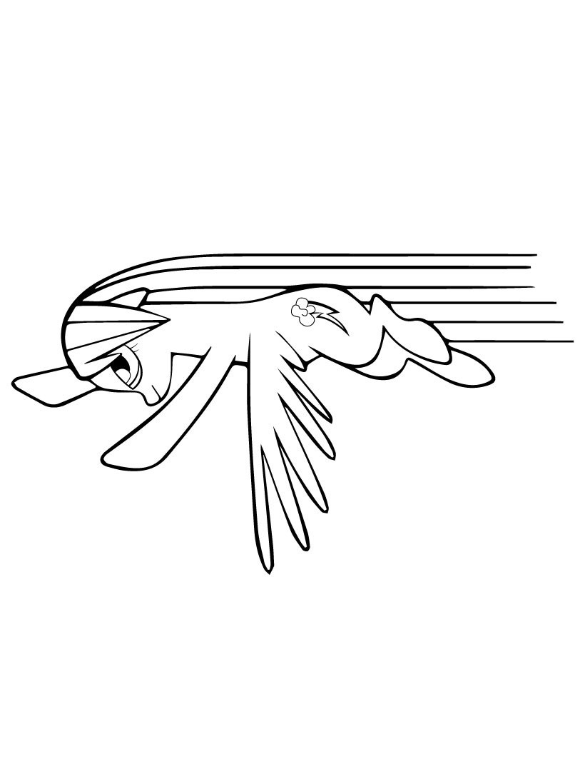 My Little Pony Rainbow Dash Fly Coloring Page
