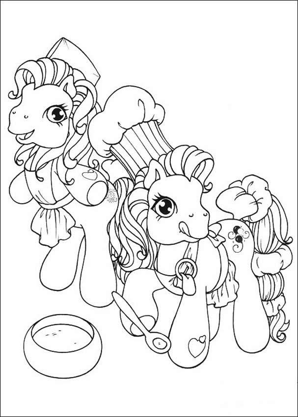 My Little Pony Making A Cake Coloring Page
