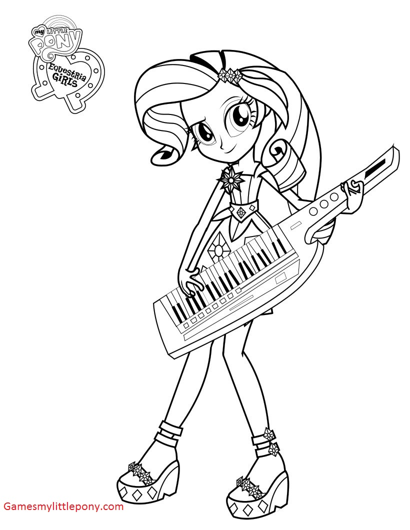 My Little Pony Rarity Musician Coloring Page
