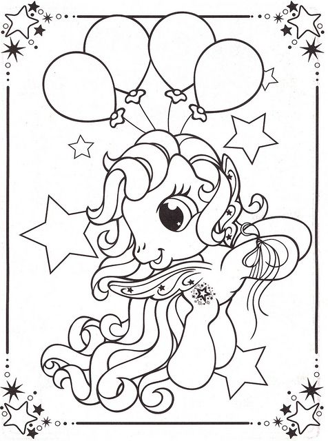My Little Pony Balloon Coloring Page