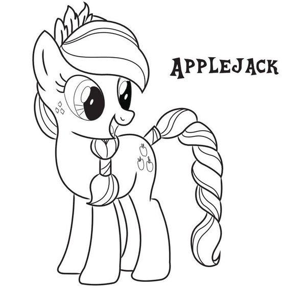 My Little Pony AppleJack New Hair Coloring Page