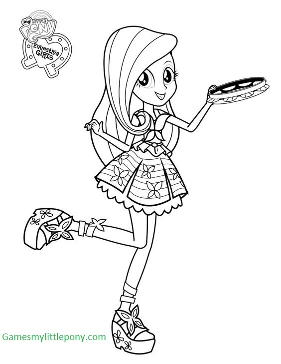 My Equestria Girl Fluttershy Coloring Page