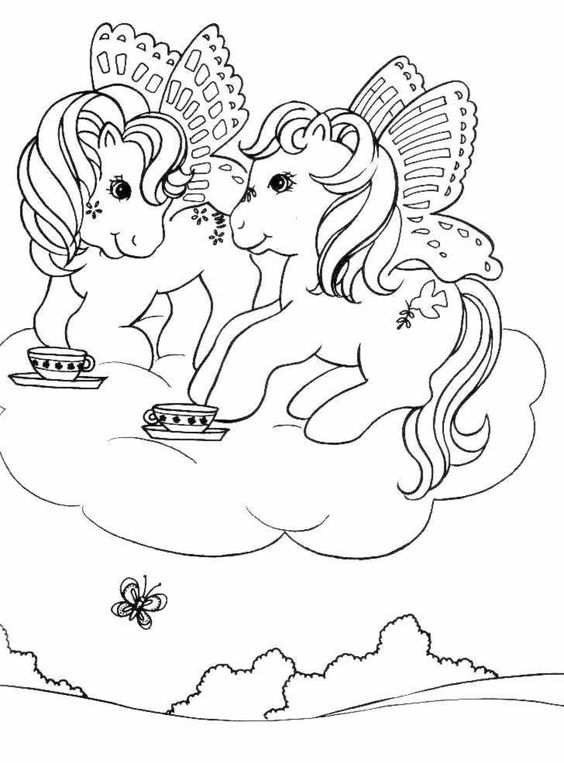 My Little Pony With Tea Coloring Page