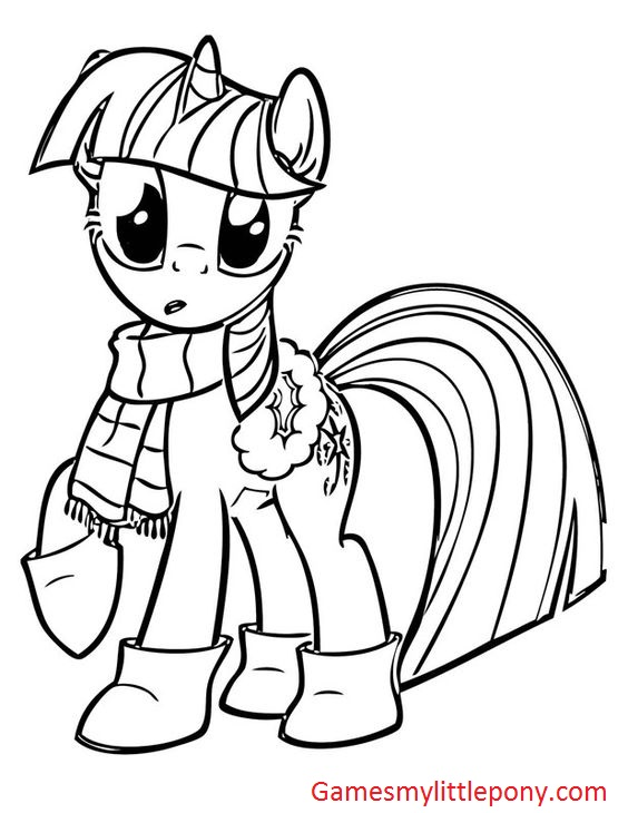 My Little Pony Princess Apple Jack Coloring Page