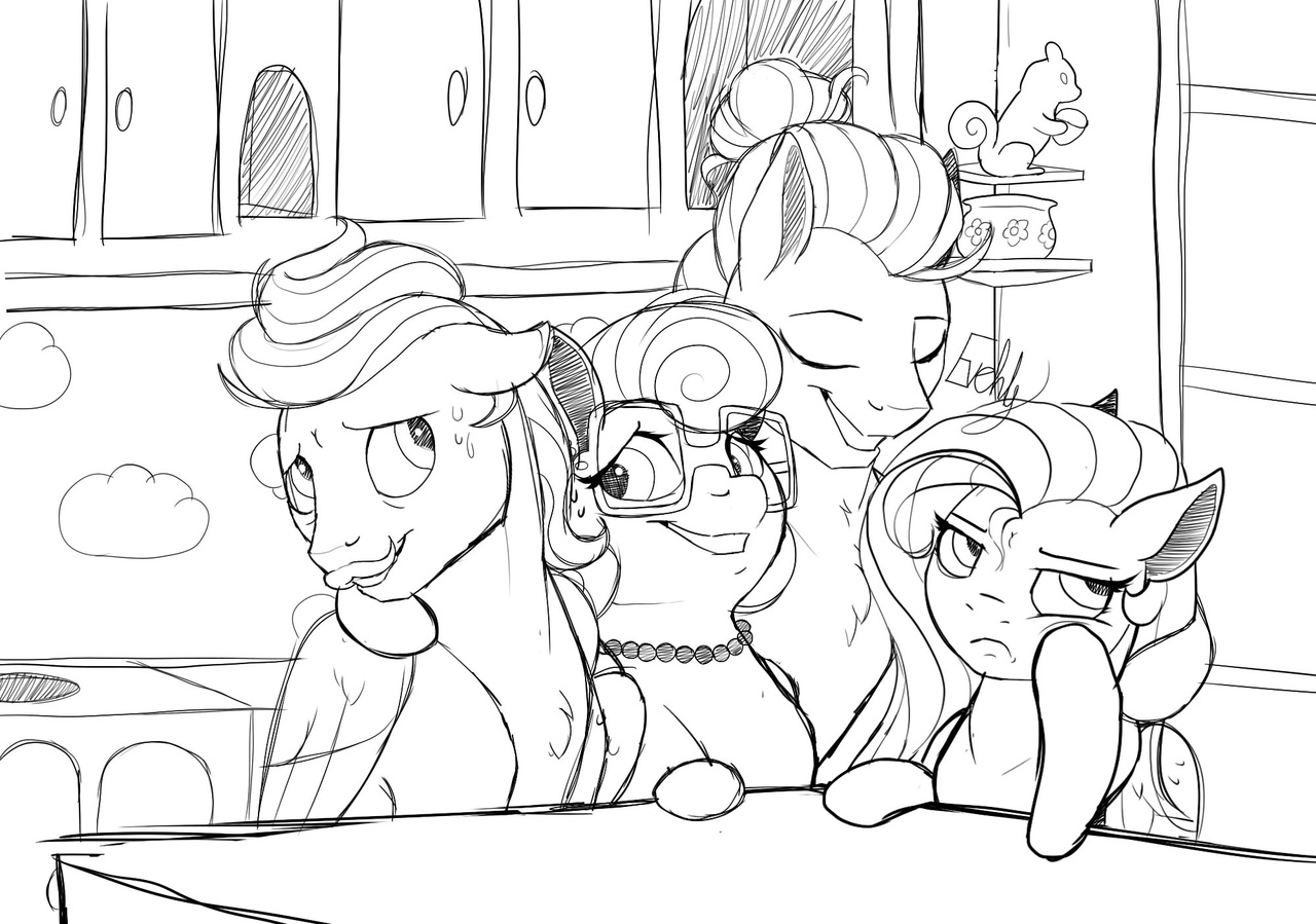 My Little Pony Shy Family Coloring Page