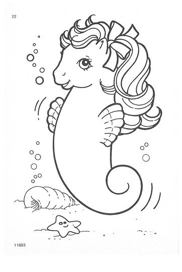 My Little Pony Key Sea Horse Coloring Page