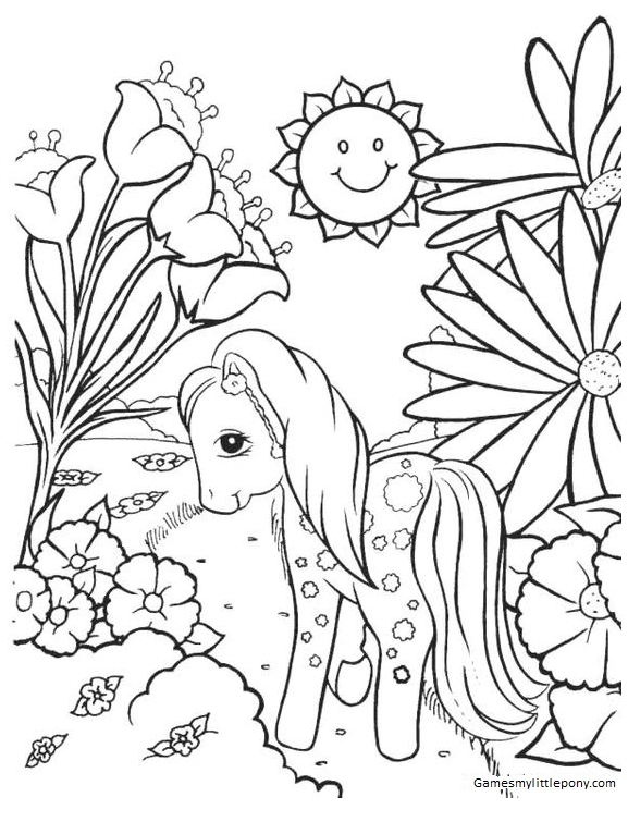 My Little Pony Horse In Spring Coloring Page