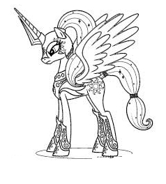 Mlp  Coloring Queen Chrysalis Coloring Page