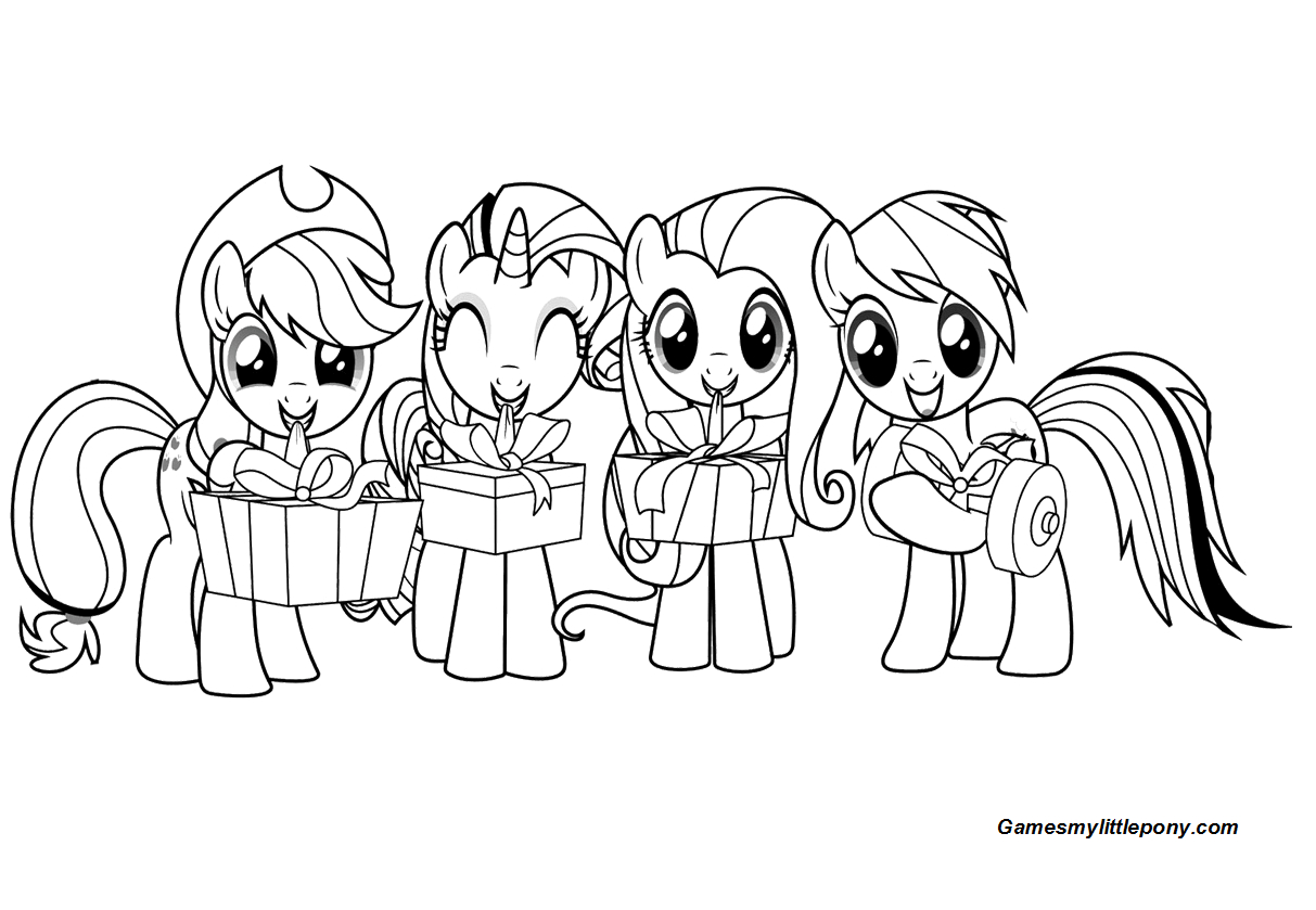 Cute My Little Pony With Gifts