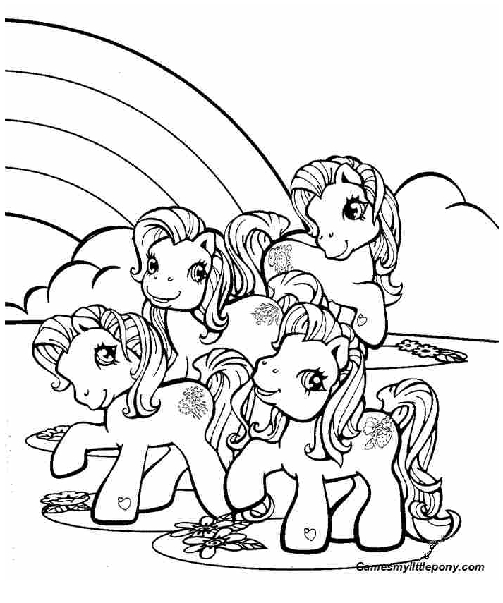 Little Pony Near Rainbow  from My Little Pony Coloring Page