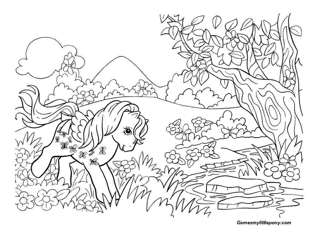 Pony In The Forest  from My Little Pony Coloring Page