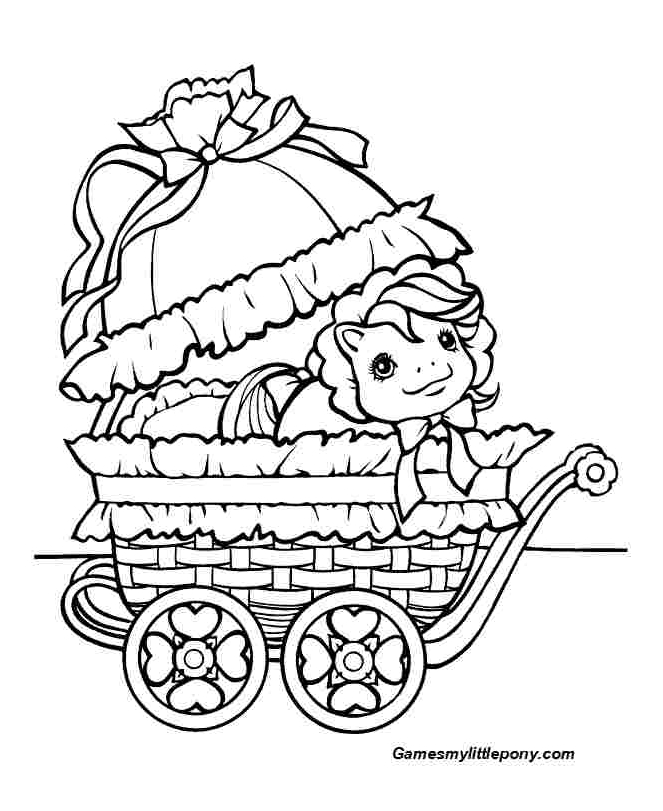 Baby Carrier  from My Little Pony Coloring Page