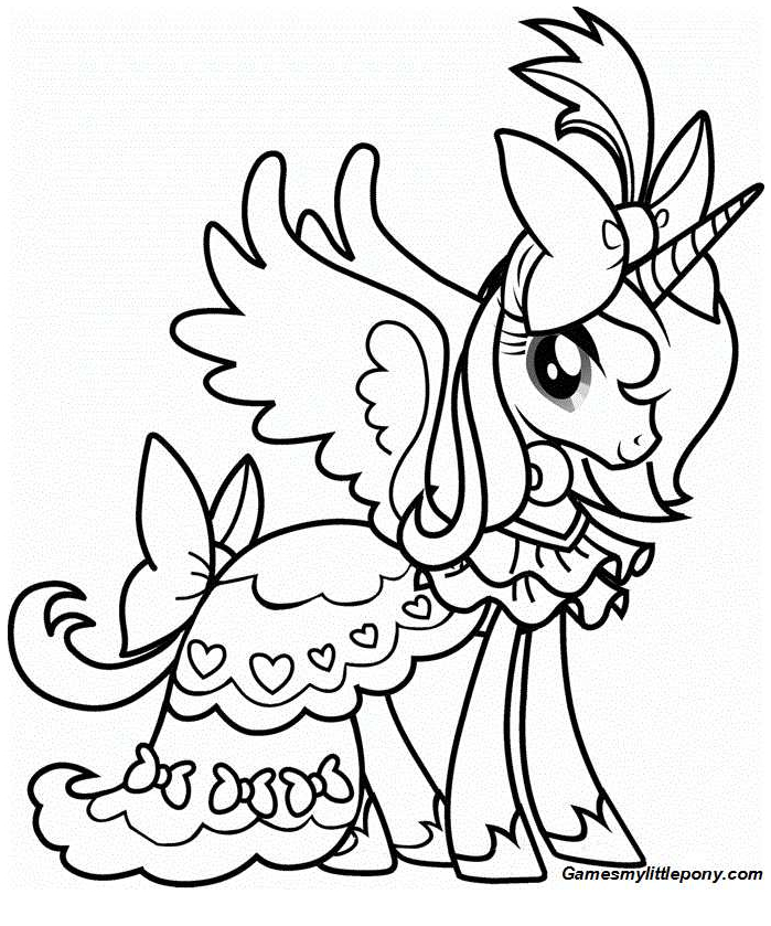 My Little Pony Princess Luna Walks Coloring Page