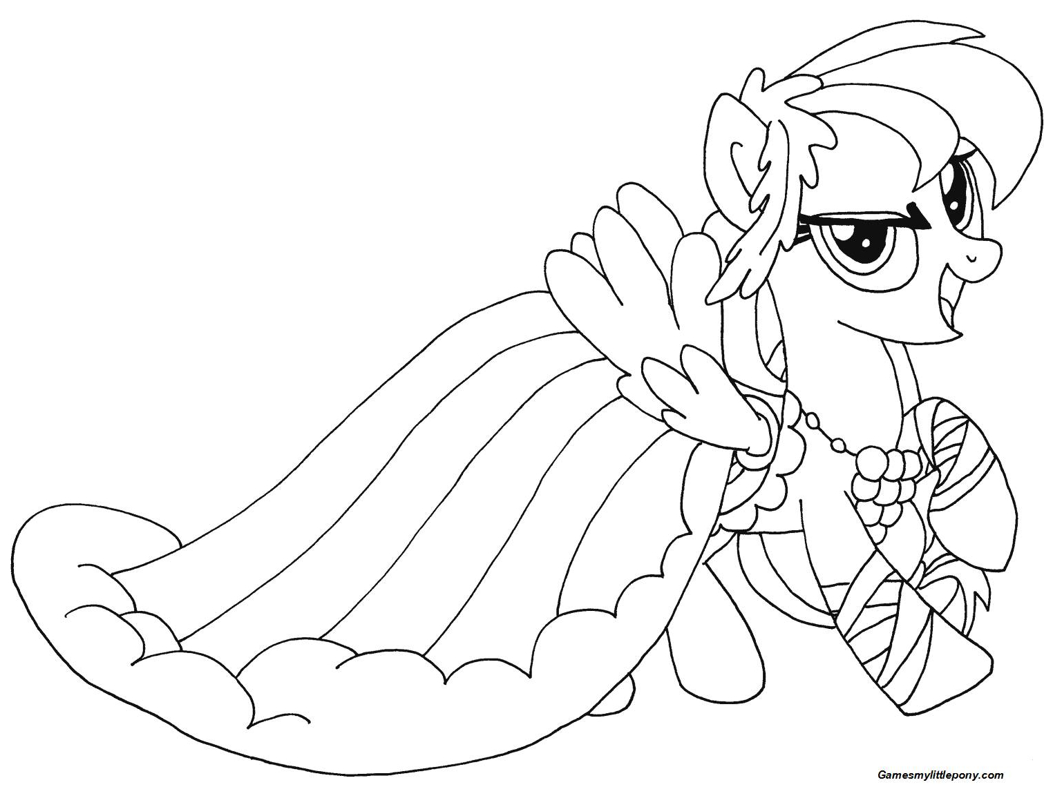 My Little Pony Rainbow Dash from My Little Pony Coloring Page