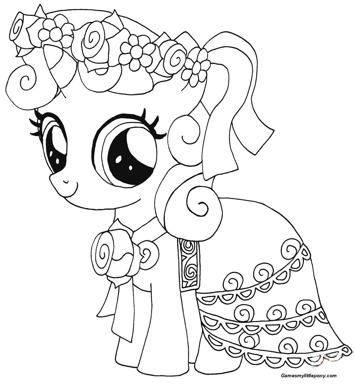 My Little Pony Sweetie Belle from My Little Pony Coloring Page