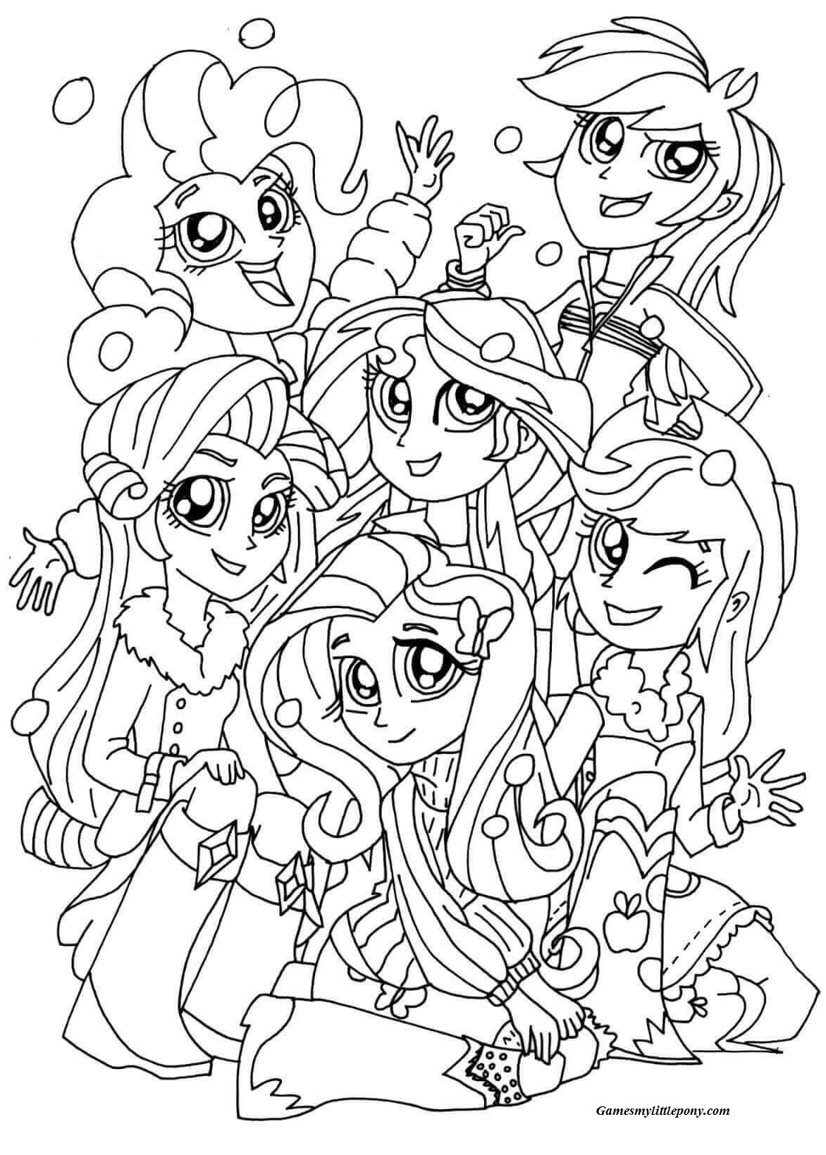 My Little Pony Equestria Girl Christmas Coloring Pages