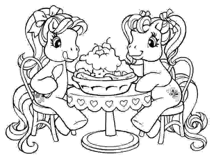 Happy Birthday Friendship Pony Coloring Page