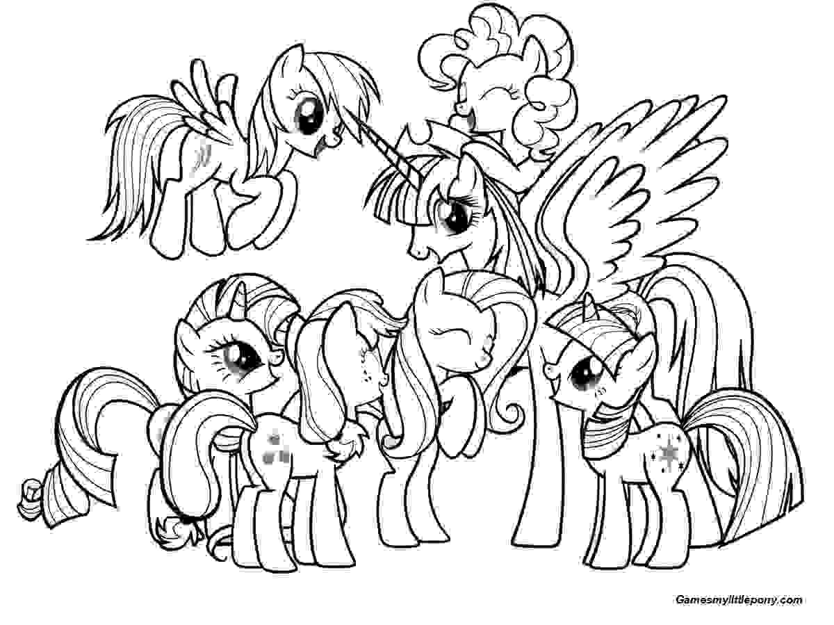 Princess Pony with Friends Coloring Page