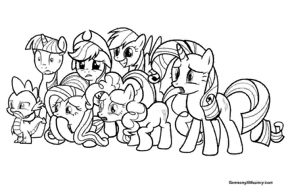 Family Pony Coloring Page