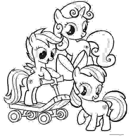 Funny Rainbow Dash Pinkie Pie and Twilight Sparkle Coloring Page