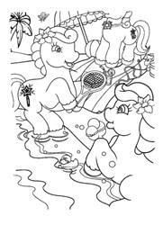 Ponies Play Tennis