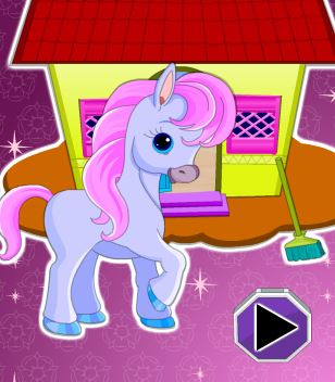 Little Pony House Cleaning Game
