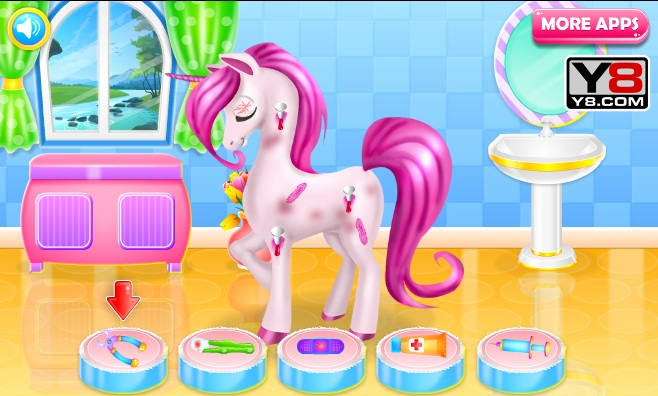 Colorful Unicorn Caring Game