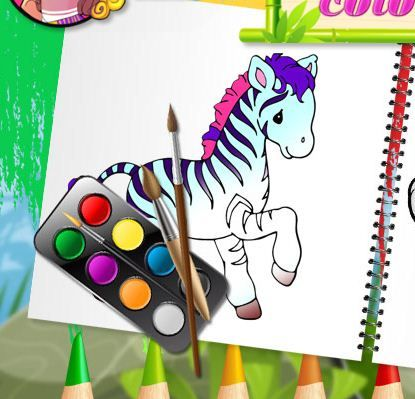 Funny Animals Coloring Book Game