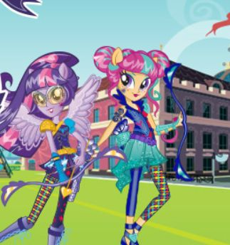 My Little Pony Equestria Girls Archery Game