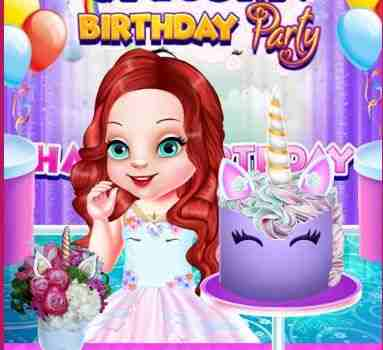 Baby Ariel Unicorn Birthday Party Game