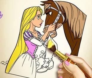 Goldie Princess Coloring Book Game