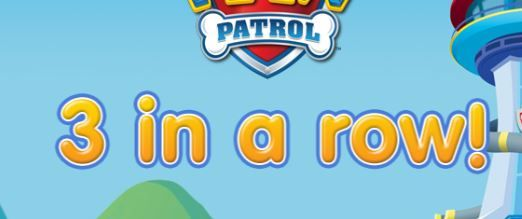 Paw Patrol 3 In A Row Game