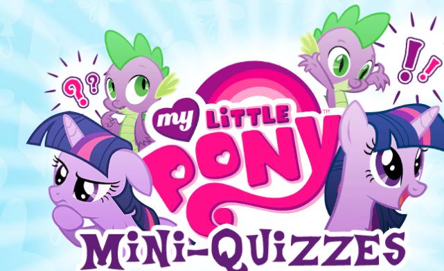My Little Pony Mini Quizzes Game