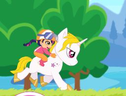 Pony Ride With Obstacles Game