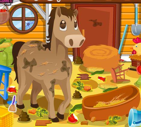 Clean Up Horse Farm Game