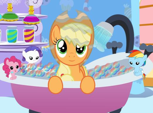 Applejack Bubble Bath Game