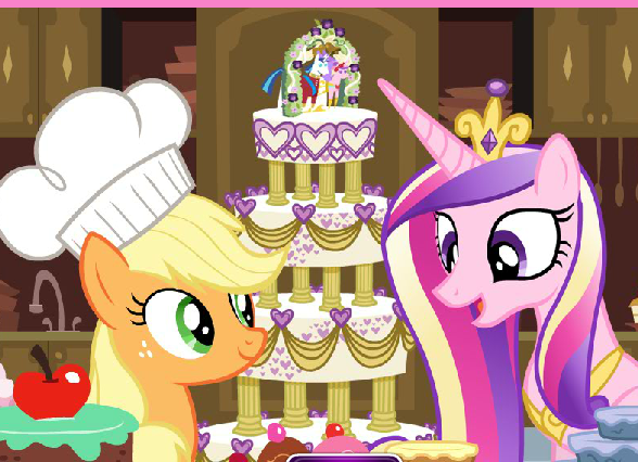 Applejack's Wedding Cake Creator Game