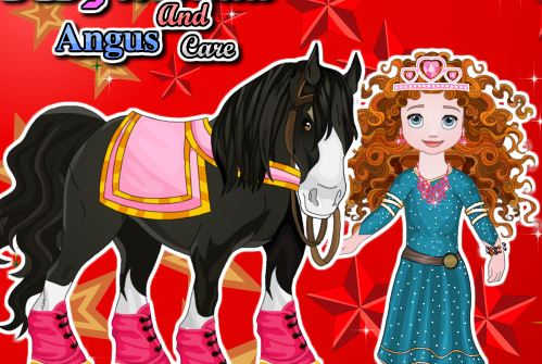 Baby Merida And Angus Care Game