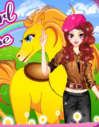 Cool Girl And Her Cute Horse Game