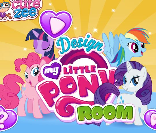 Design My Little Pony Room Game