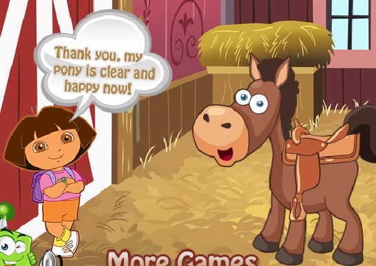 Dora Pony Care Game
