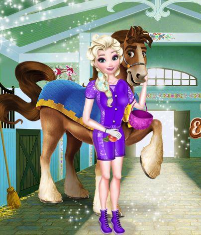 Elsa Equitation Contest Game