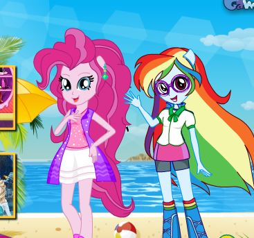 Equestria Girls Beach Fashion Game
