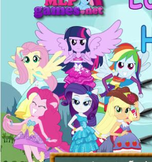 Equestria Girls Hidden Stars Game