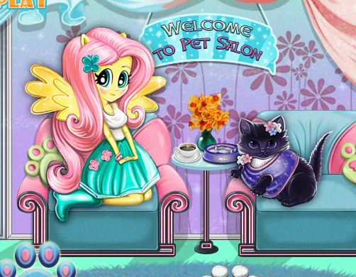 Fluttershy's Pet Care Game