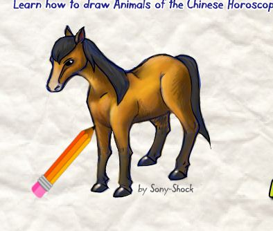 How To Draw A Horse Game