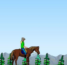 Lisa on Horse And Bandit Game