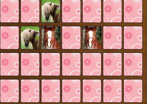 Memory Game Horses Game